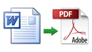 Cómo convertir archivos Word a PDF