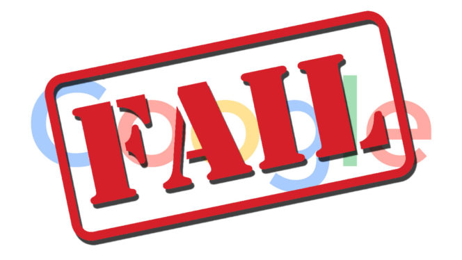 google-fail