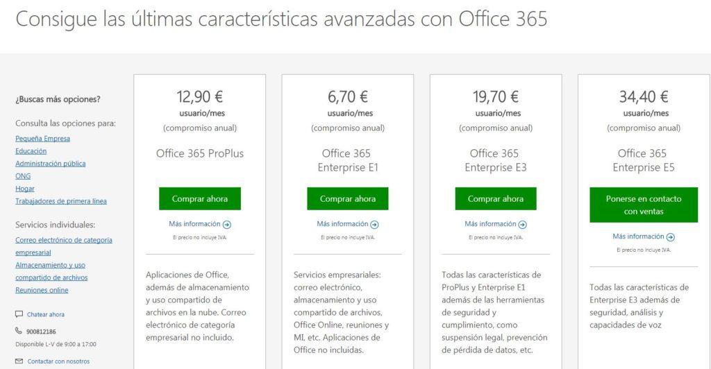 precios Microsoft office