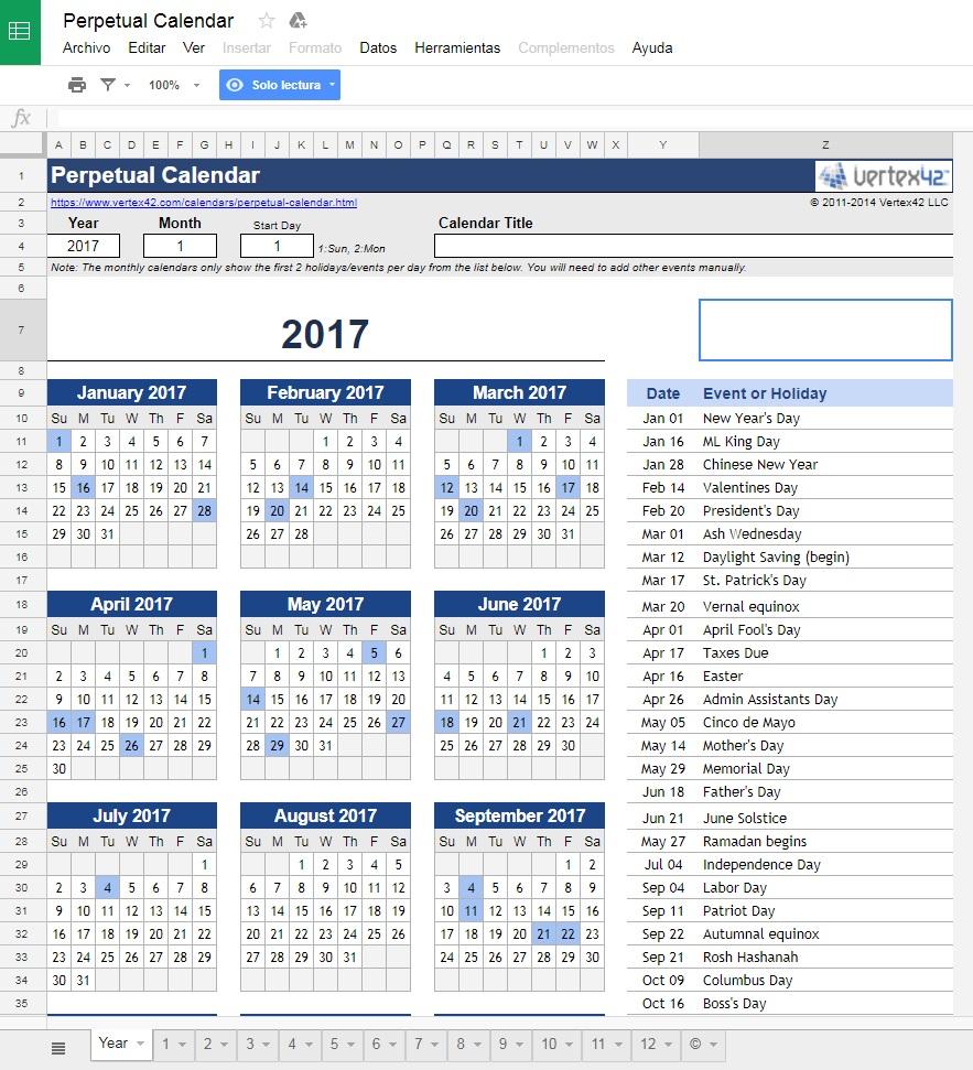 Las mejores plantillas para Google Spreadsheets u Hojas de Cálculo