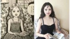 Esta artista recrea los momentos más horripilantes de un popular manga de terror