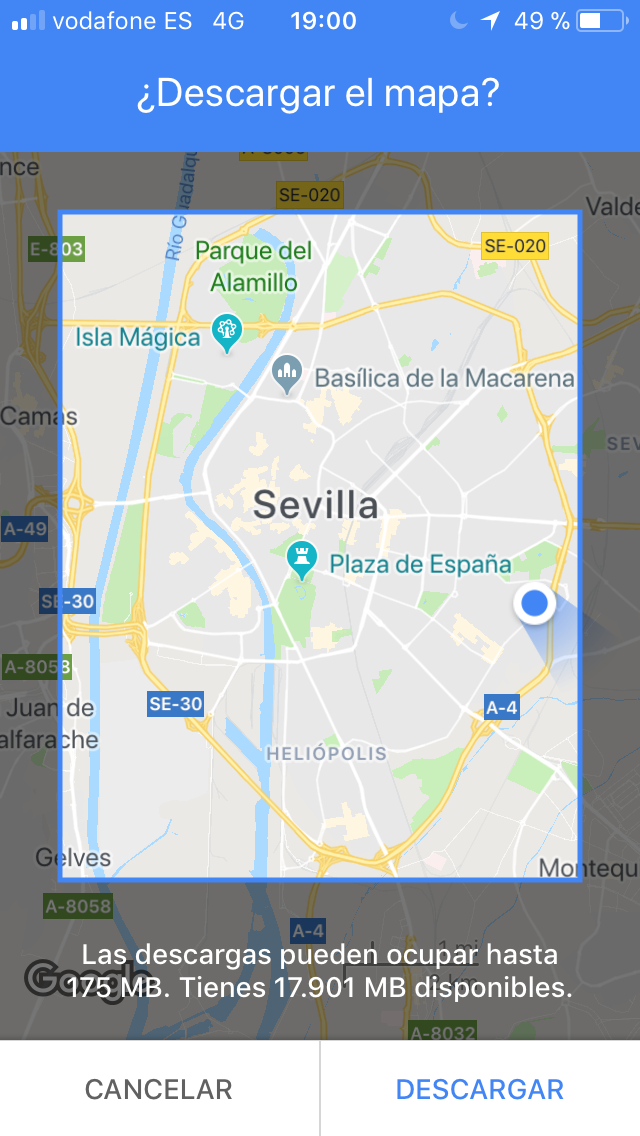 trucos google maps descargar mapas offline