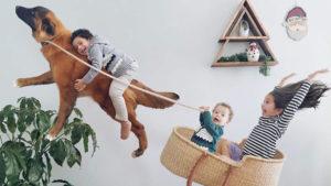 Esta madraza utiliza Photoshop para convertir el día a día de sus hijos en una aventura