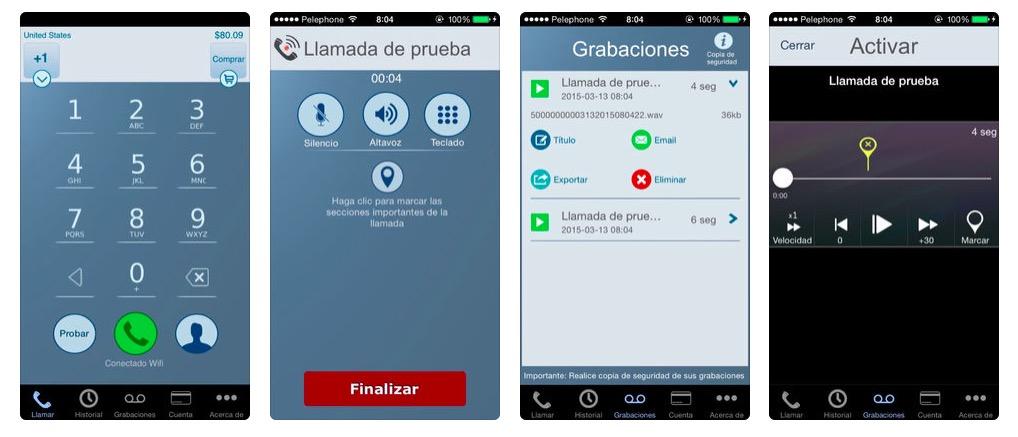 grabar llamadas desde iPhone