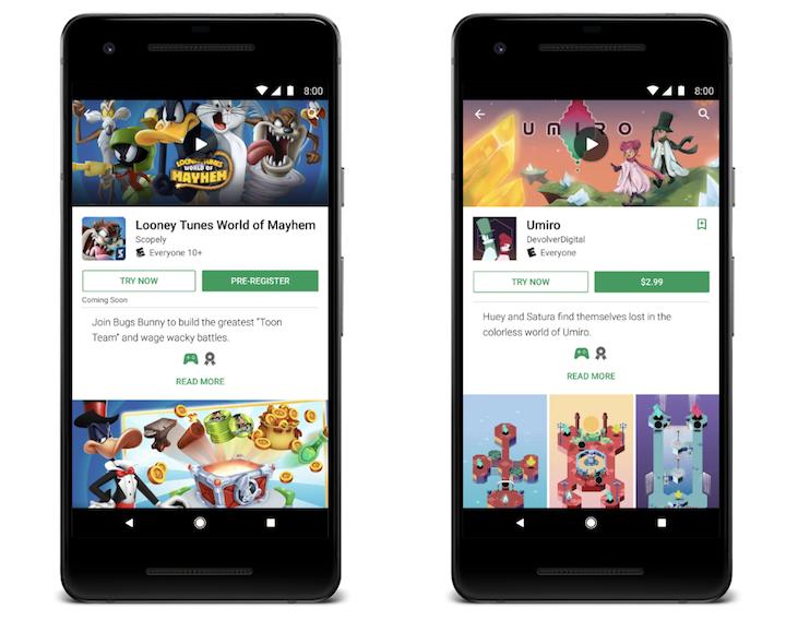 Prueba gratis juegos de pago en Google Play