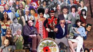 Este póster homenajea a los famosos fallecidos en 2018, ¿cuántos reconoces?