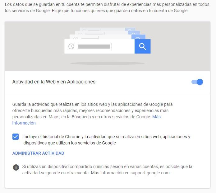Cómo evitar que Google nos rastree en todo momento