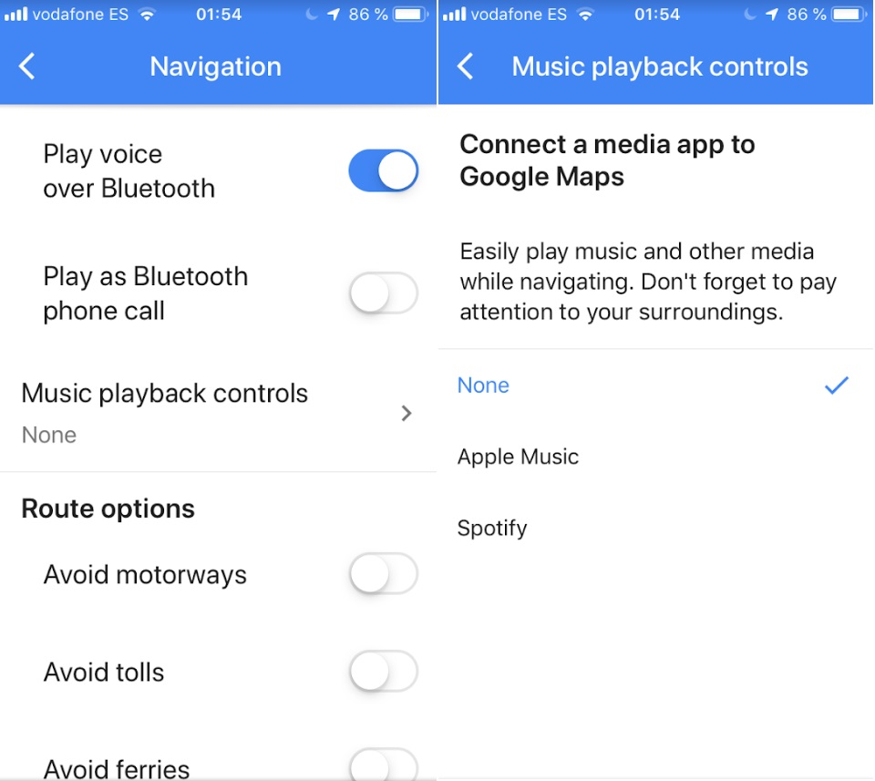 Google Maps: cómo escuchar música sin salir de la app