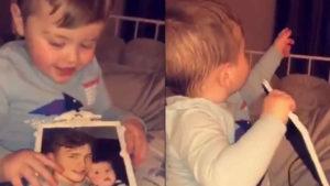 ¿Vio este bebé el fantasma de su padre muerto?