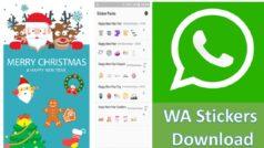WhatsApp: descarga gratis los nuevos stickers de Navidad