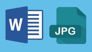 Cómo convertir un archivo Word a JPG en dos pasos