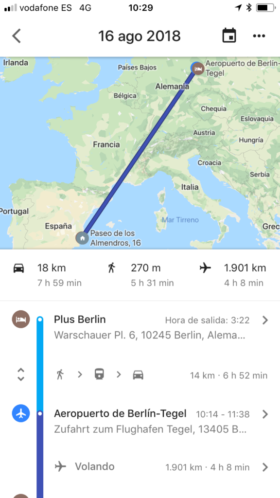 historial de recorridos google maps