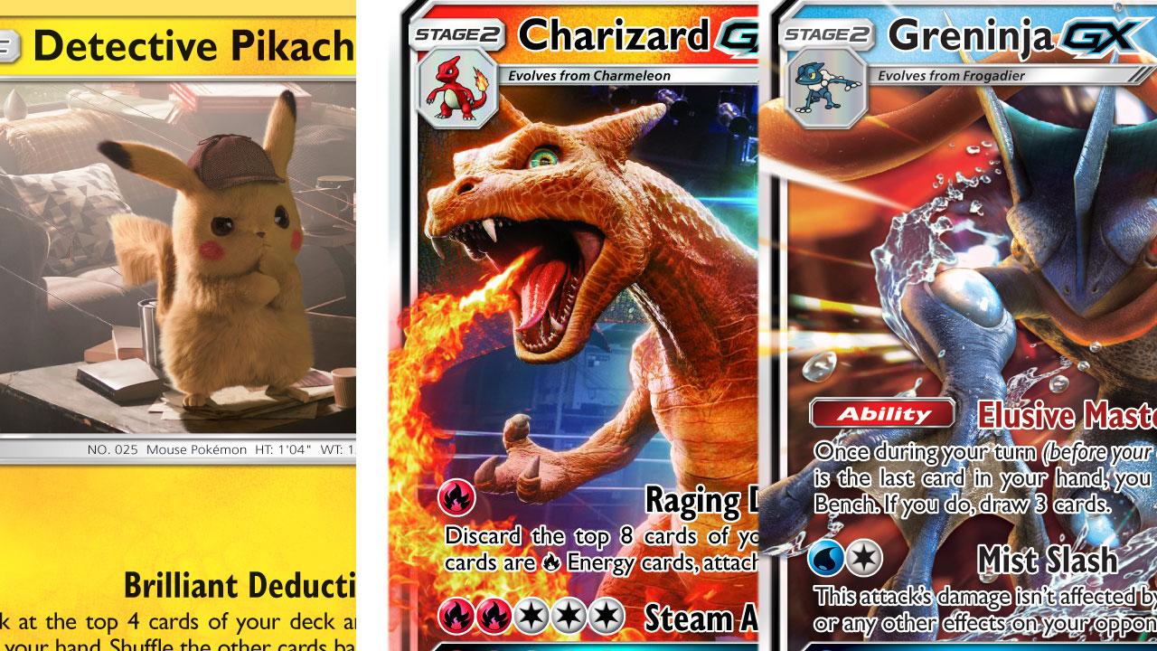 Las nuevas cartas de Pokémon nos permiten ver más de cerca a Detective Pikachu y cía