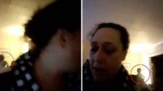¿Quién es el ente que aparece detrás de la videollamada de esta mujer?