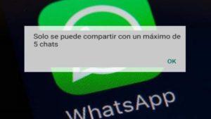 WhatsApp reactiva el reenvío de mensajes a cinco personas