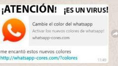 Ni se te ocurra hacerle caso al WhatsApp de colores, se trata de un virus