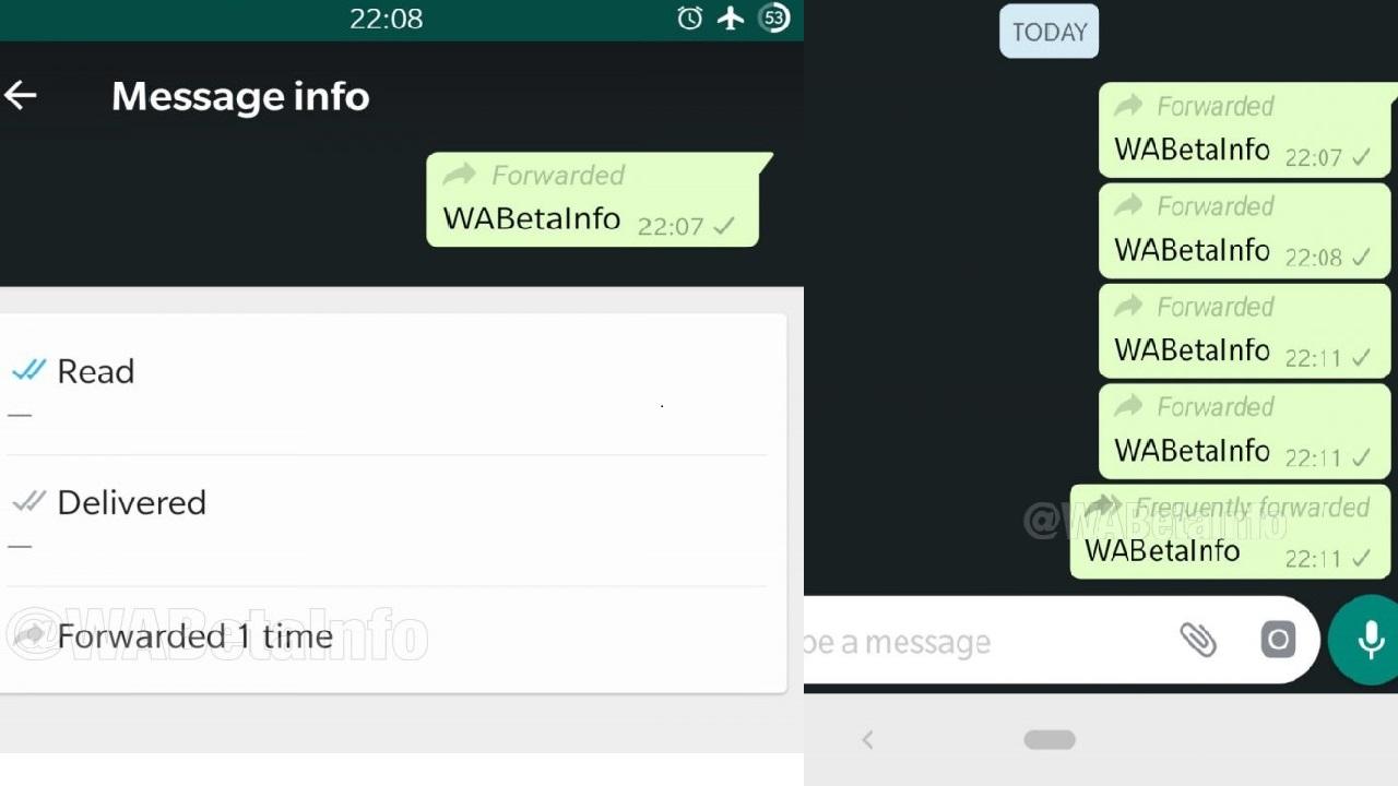 WhatsApp reveló nueva función de reenvío de mensajes