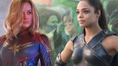 Brie Larson y Tessa Thompson están encantadas con los fanarts que juntan a Capitana Marvel con Valquiria