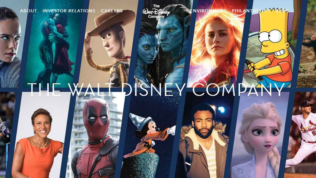 Deadpool invade la página oficial de The Walt Disney Company