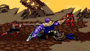 Infinity War: Fan recrea las batallas Vengadores vs Thanos con gráficos 16-bits