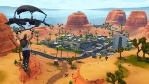 Busca la señal de mapa del tesoro en Oasis Ostentoso: Desafío de la Semana 8 de Fortnite Battle Royale