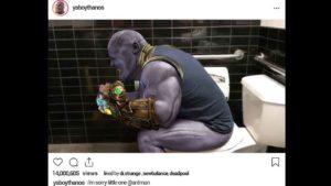 Vengadores Endgame: Thanos intenta expulsar a Ant-Man de su culo en esta fan-imagen