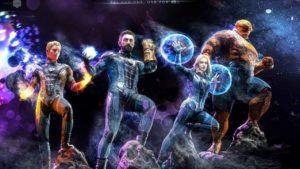 Esta ilustración muestra cómo serían Los Cuatro Fantásticos en el Universo Cinematográfico Marvel