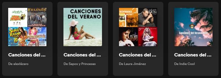 Canciones del verano en Spotify