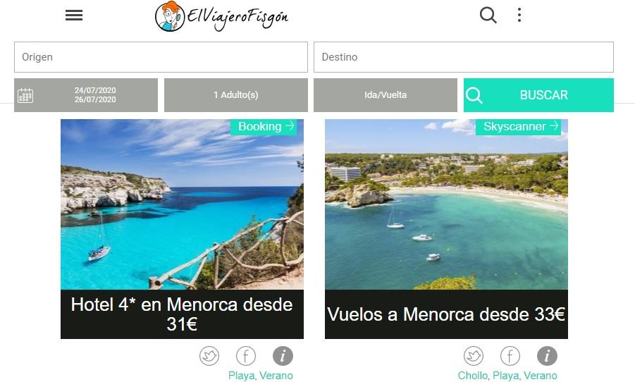 Web de El Viajero Fisgón