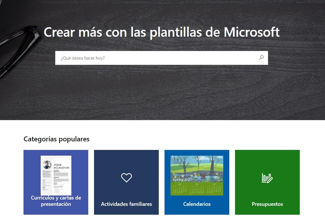 Página oficial de Microsoft Office