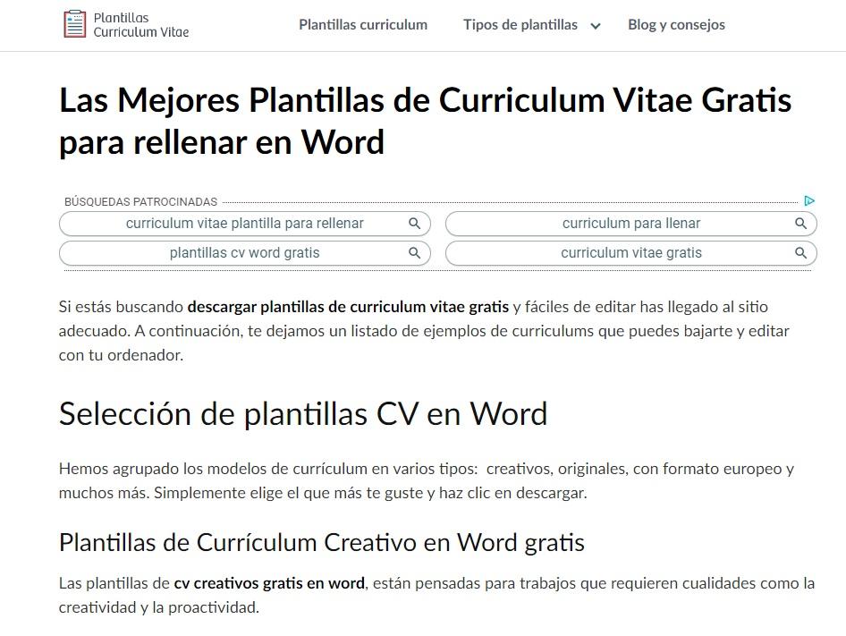 Home de Plantillas Currículum Vitae 10