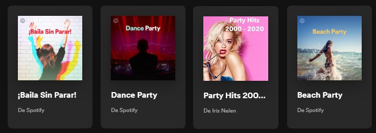 Playlist de fiesta en Spotify