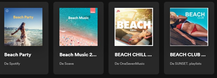Playlist de playas en Spotify