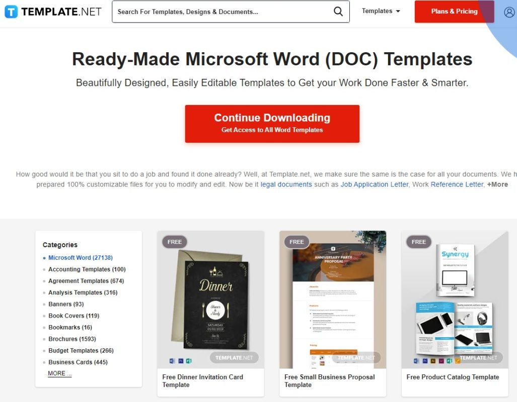 Home de Template.net
