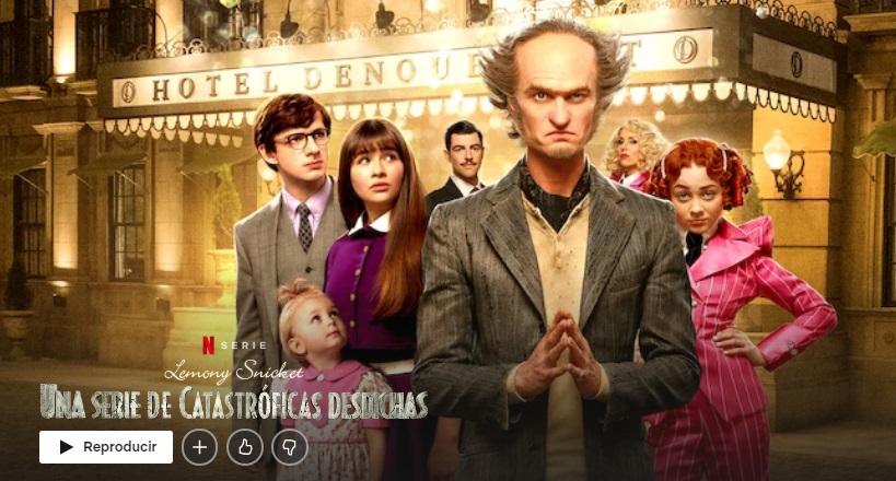 Una serie de catastróficas desdichas en Netflix
