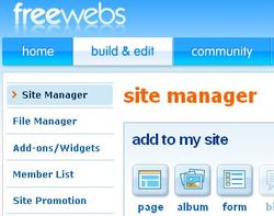 Create your web with Freewebs