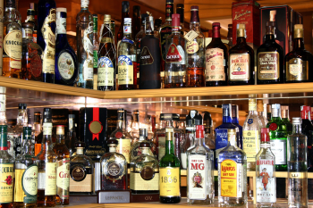 Bar with all sorts of alcohol