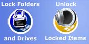 Folder lock logo
