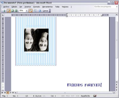create greeting cards with word