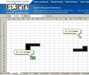 Excit, an Excel game
