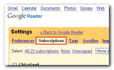 Rename Google Reader folders