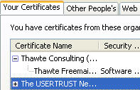 Viewing certificates in Firefox
