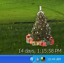 a christmas tree on your desktop