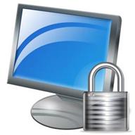 Computer lock logo