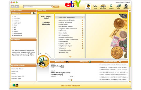 eBay on Adobe AIR