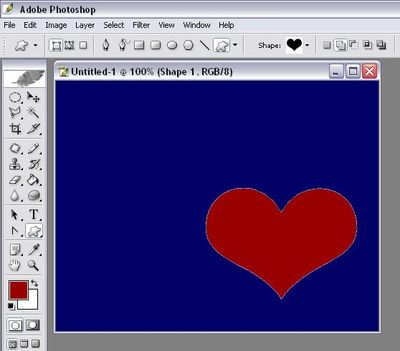 Create a Valentine's card with Photoshop