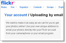 Send photos from iPhone to Flickr