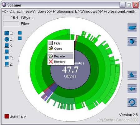 free up disk space with Scanner