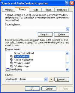 Rid your PC of that annoying startup sound