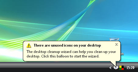 Disable the desktop cleanup wizard in Windows